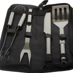 Kitchenworthy 5 Piece Stainless Steel Bbq Tool Set [20 Pieces] *** Product Description: The Kitchenworthy 5Pc Stainless Steel Bbq Set Contains All The Essentials You Will Need For Your Next Bbq. The Set Features A Zippered Storage Case. Retail Pa ***