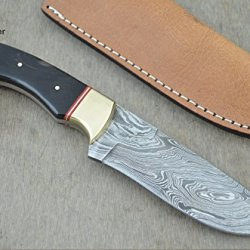 "Christmas Gift By Leather-N-Dagger | Professional High Quality Custom Handmade Damascus Steel Model-Year 2015 9.25"" Hunting Knife (100% Satisfaction Guaranteed) Great Gift Ld205"