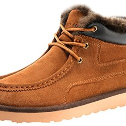 Rock Me Women'S Genuine Leather Winter Snow Boot(Chestnut,7)