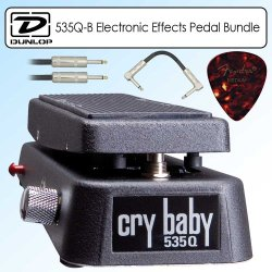 Dunlop 535Q-B Crybaby Q Multi-Wah Electronic Effects Pedal Black Bundle