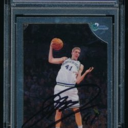 Dirk Nowitzki Signed 1998 Topps Chrome Rc #154 (Psa Encapsulated)