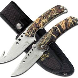 Elk Ridge Er-054Ca 8.5-Inch Fixed And 5-Inch Folder Hunting Knife Set