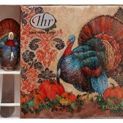 Ideal Home Range Napkin And Spread Hostess Gift Set, Damask Turkey