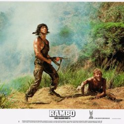 Rambo First Blood Part Ii Sylvester Stallone With Machine Gun