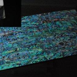Blue Paua Shell Coated Enhanced Adhesive Veneer Sheet