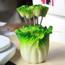 Creative Decorative Stainless Steel Fruit Fork Household Daily Necessities (Cabbage)