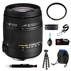 Sigma 18-250Mm F3.5-6.3 Dc Macro Os Hsm Lens For Nikon Digital Slr Cameras Bundle With Tiffen Uv Filter Accessory Kit