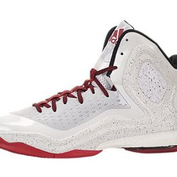 Men'S Adidas D Rose 5 Boost Basketball Shoes White/Scarlet/Light Onyx/Black S85193 (11)