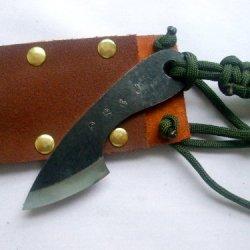 Pb&J Handmade Knives Morsel Neck Knife L6 Sawmill Blade Tool Steel