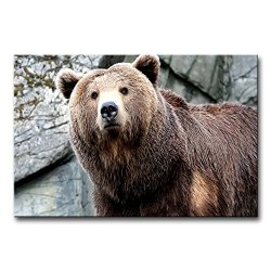 Wall Art Painting Brown Bear Pictures Prints On Canvas Animal The Picture Decor Oil For Home Modern Decoration Print For Kids Room
