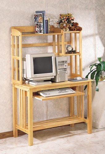 Picture of Comfortable ALL NATURAL COMPUTER TABLE WITH HUTCH (B000JI66SI) (Computer Tables)