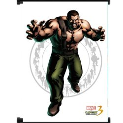 Marvel Vs Capcom 3 Haggar Game Fabric Wall Scroll Poster (32X42) Inches