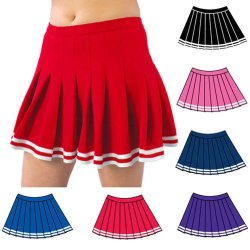 Pizzazz Navy Pleated Cheer Uniform Adult Skirt M