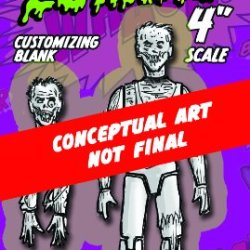 "Spherewerx Create Your Own Comic Book Hero Zombie Customizing Blank 4"" Action Figure"