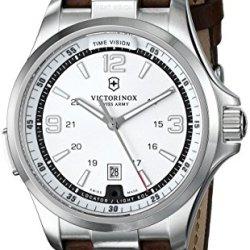 Victorinox Men'S 241570 Night Vision Analog Display Swiss Quartz Brown Watch