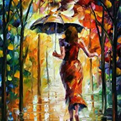 Palette Knife Canvas For Home Decoration,Running Towards Love Wall Art 30 X 36 In Unframed