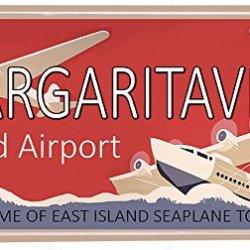 Margaritaville Island Vanity Novelty Airport Aluminum License Plate
