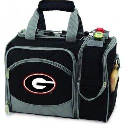 Georgia Bulldogs Malibu Insulated Picnic Shoulder Pack/Bag - Navy W/Embroidery