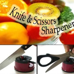 Knife Sharpener With Secure Suction Pad Seen On Tv