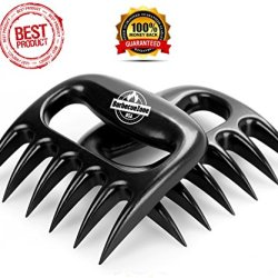 ★Premium★ Meat Shredder Claws For Pulled Pork, Beef, Chicken And Turkey * Best Bbq Tool And Fork To Lift, Transfer, Carve And Mix. Perfect No Steel Grill Accessory For Pork Butts And Shoulders * Top Barbecue Gift * Best Seller Meat Handler And Grinder * E