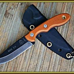 Tops Mini Scandi 2.5 Tan Handle Neck Knife Designed By Leo Espinoza