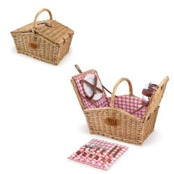 Nfl New York Giants Piccadilly Picnic Basket With Service For Two