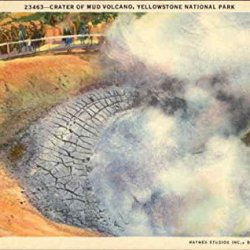 23463 - Crater Of Mud Volcano, Yellowstone National Park Original Vintage Postcard