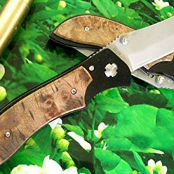 Extralarg Assisited Opening Stilettp Hardwood Handles 8.07''