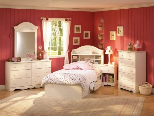 Image of Kids Bedroom Furniture Set in Vanilla Cream - South Shore Furniture - 3210-BSET-1 (3210-BSET-1)