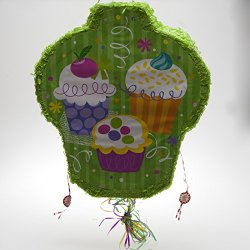 Cupcake Party Pop Out Pull Pinata
