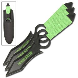Crippler Zombie Killer 3 Piece Throwing Knives