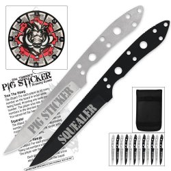 United Cutlery Xl1538 Pig Sticker On Target Throwing Knife Set And Target(Pack Of 13)