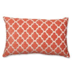 Pillow Perfect Keaton Santa Fe Rectangular Throw Pillow, Orange