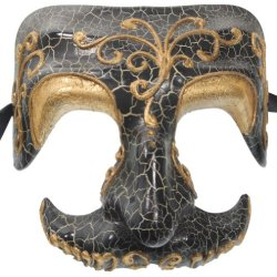 Redskytrader Mens Skull Venetian Mask One Size Fits Most Black