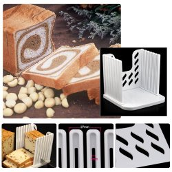 Dgi Mart Kitchen Pro Bread Loaf Slicer Slicing Cutter Cutting Cuts Even Slices Guide Tool