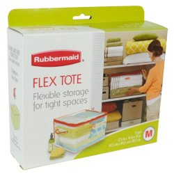 Rubbermaid 1802621 Medium Flexible Tote 15-Gallon