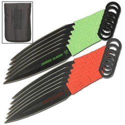 12 Piece Deadly Dozen Zombie Slayer Throwing Knife Set
