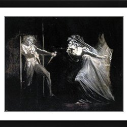 """John Henry Fuseli Lady Macbeth With The Daggers - 19.25"""" X 21.75"""" Matted Framed Premium Archival Print"""