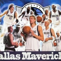 J-4331 Dallas Mavericks Basketball Team- Dirk Nowitzki, Gal Mekel, José Calderón - Basketball Poster - Rare New - Image Print Photo