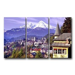 3 Piece Wall Art Painting Germany Mountains Forest Pictures Prints On Canvas City The Picture Decor Oil For Home Modern Decoration Print