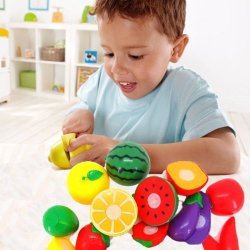 Tpt Cutting 11 Kinds Of Environment-Friendly Plastic Fruit Vegetable Pretend Play Children Kid Educational Toy