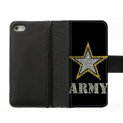 Jdsitem Creative Letter Army Star Design Diary Leather Case Cover Sleeve Protector For Phone Iphone 5S