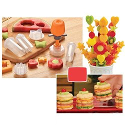 Creative Kitchen Accessories Cooking Tools Plastic Fruit Shape Cutter Slicer Veggie Food Decorator Fruit Cutter