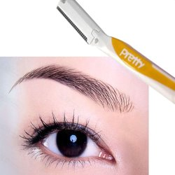 1Pc Yellow/Blue/Pink Pretty New Eyebrow Trimmer Razor Face Nape Safety Beauty Knife Eyebrow Set Trimmer Razor Face Nape Safety Beauty Knife Mz22001(Color Is Random For Shipping)