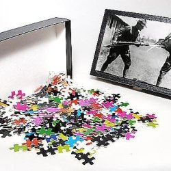 Photo Jigsaw Puzzle Of Two American Soldiers Bayonet Training, France, Ww1