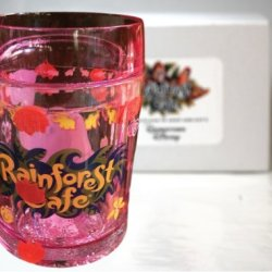 "Rainforest Cafe Pink ""Tuki"" Plastic Glitter Cup- Rainforest Cafe Exclusive & Limited Availability"