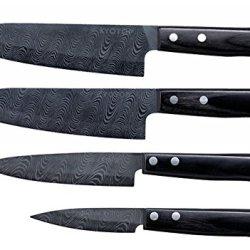 Kyocera Kyotop Damascus Set Of 4 - Chef, Santoku, Utility, Paring