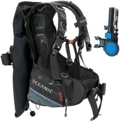 New Oceanic Excursion 2 Scuba Diving Bcd With Air Xs 2 Alternate Air Inflator Regulator Installed On Bcd - (Size Small)