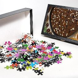 Photo Jigsaw Puzzle Of Castagnaccio, Pie Of Chestnut Flour With Raisins, Rosemary And Pine Nuts