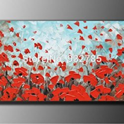 Red Butterfly Artwork Wall Painting Landscape Oil Painting On Canvas Palette Knife Modern Painting Home Decor Wall Art